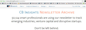 cb insights newsletter